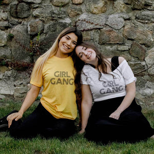 Girl Gang, Retro Font - Off the Shoulder