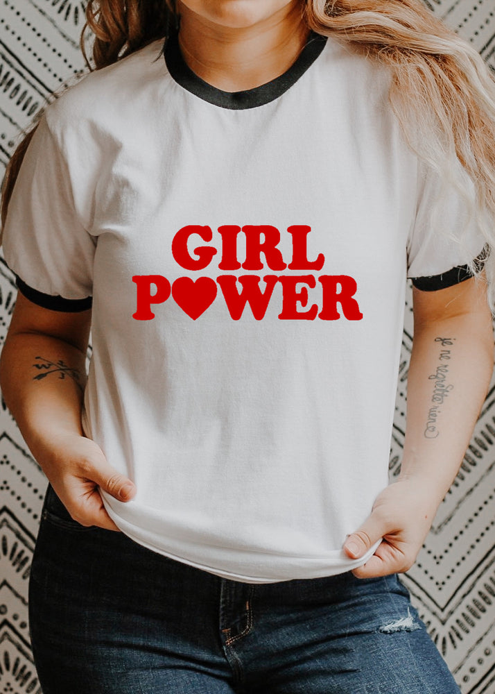 Load image into Gallery viewer, Girl Power - Retro Fitted Ringer