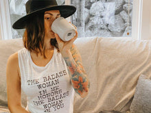 Load image into Gallery viewer, The Badass Woman In Me Honors The Badass Woman In You, Muscle Tank