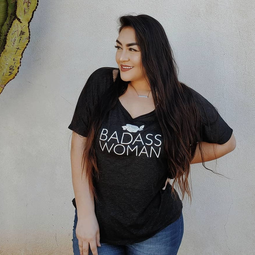 Badass Woman, Rose - Off the Shoulder