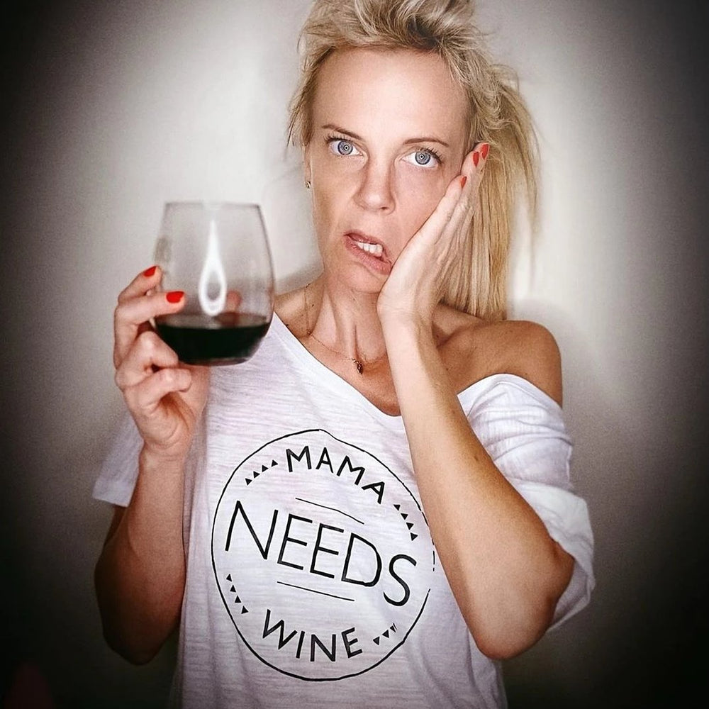 Mama Needs Wine - Off the Shoulder