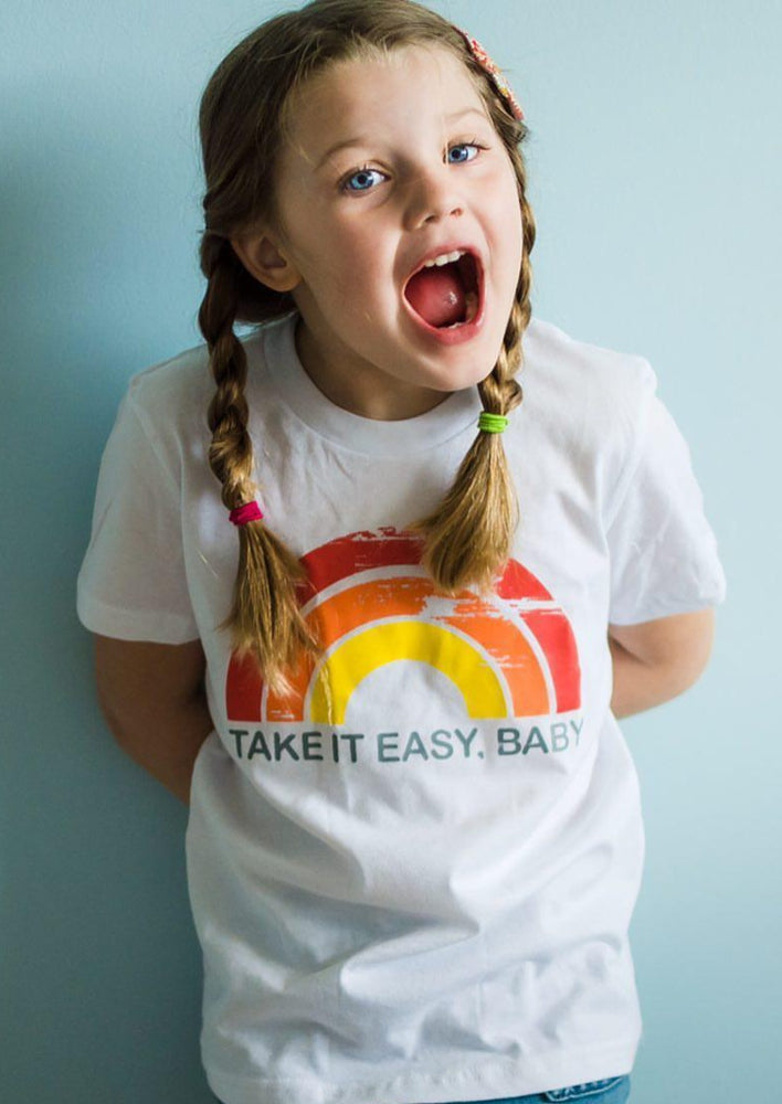 Load image into Gallery viewer, Take it Easy, Baby - Kid's + Toddler Tees