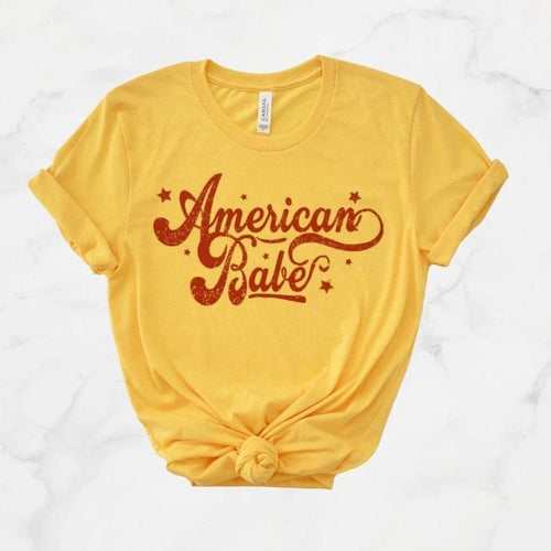 AMERICAN BABE - Unisex Comfy Tees