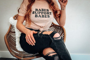 Load image into Gallery viewer, Babes Support Babes - Boyfriend Tee