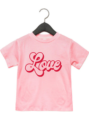 LOVE, Retro - Kid's + Toddler Tees