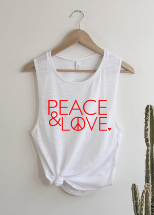 Load image into Gallery viewer, Peace & Love - Muscle Tank