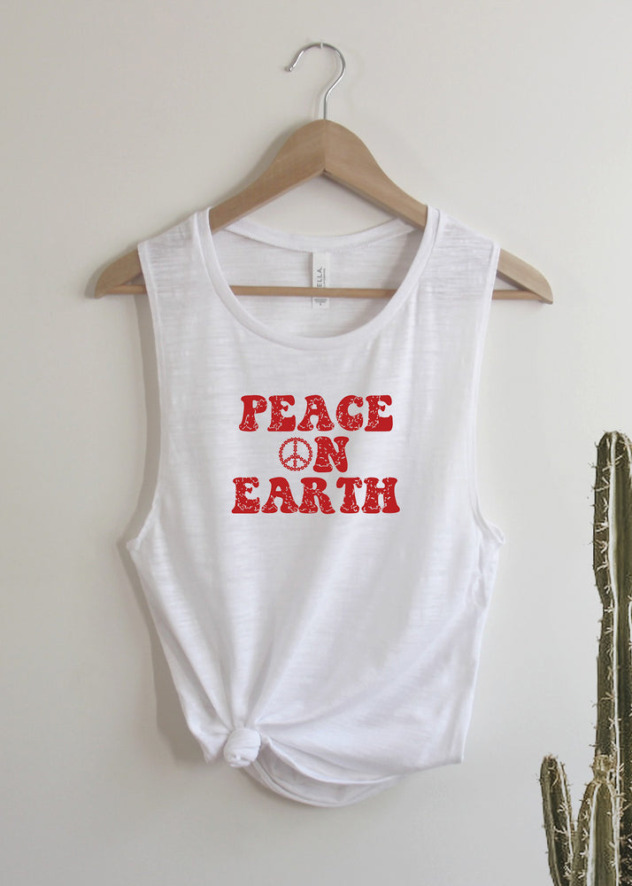 Peace on Earth, Retro - Muscle Tank