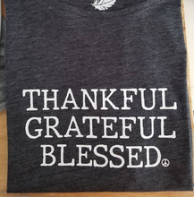 Load image into Gallery viewer, THANKFUL GRATEFUL BLESSED - Off Shoulder Tees