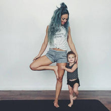 Load image into Gallery viewer, NAMASTE MAMA Tanks - white or gray