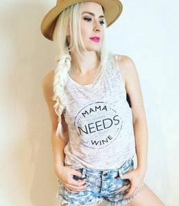 MAMA NEEDS WINE, White Marble Tank, Mama Needs Wine Tee, Wine Tee, Wine Shirt, Wine Tshirt, Wine Top, Wine Shirts, Wine Tank