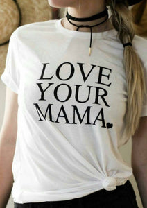 LOVE YOUR MAMA, Boyfriend Tee or Tank, Love Your Mama, Mama Tee, Mom T, Mom Gift, Mom Life, Mama Bird,  Love Your Mama