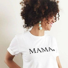 Load image into Gallery viewer, MAMA Heart Boyfriend Tee, Mama Shirts, Mama Tee, Mama Top, Mama Tshirt, Mom Life Tshirt, Mama Shirt, Mom Tee, Mom Tshirt, Mama Shirt