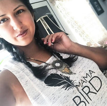 Load image into Gallery viewer, MAMA BIRD, White Marble Tank, Mama Bird Shirt, Mama Bird Tshirt, Mama Bird Shirt, Mama Bird Tank, Mama Bird Top, Mama Bird Top, Mama Bird