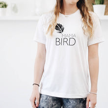 Load image into Gallery viewer, 2 Piece SET, Mama Bird + Baby Bird Set, Black Ink, Mommy and Me T, Mama Bird, Baby Bird, Mommy T, Mama Bird Tee, Mama Bird Set, Mama Bird
