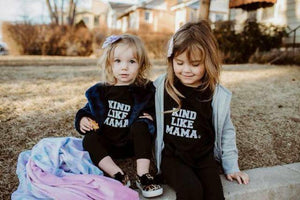 KIND LIKE MAMA Tee, Kind Kids Tees, Kindness Tshirt, Kind Like Mama Tshirt