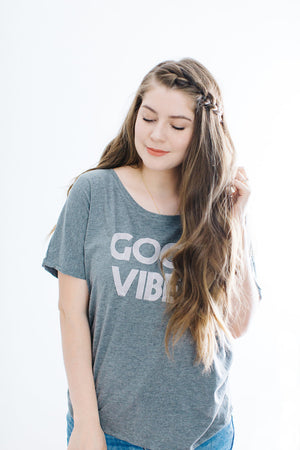 GOOD VIBES, Gray Good Vibes tshirt, Good Vibes Tee, Good Vibes, Good Vibes Shirt, Good Vibes Top, Good Vibes Only