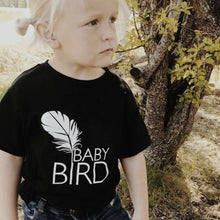 Load image into Gallery viewer, Baby Bird Tee, Black, Baby Bird Tshirt, Baby Bird Tee, Baby Bird Shirt, Baby Gift, Baby Shower Gift