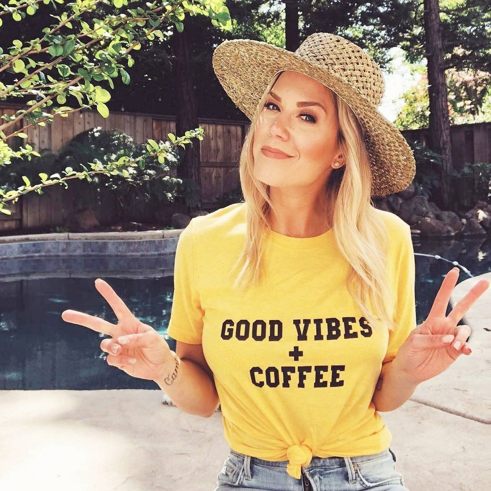 Good Vibes + Coffee - Muscle Tank