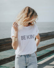 Load image into Gallery viewer, BE KIND Tee, Be Kind tshirt, Be Kind Tshirts, Be Kind Tops, Retro Be Kind, Be Kind Tees, Kindness Tops