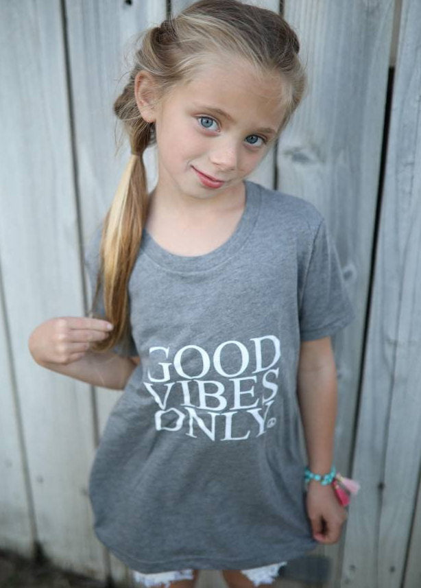 GOOD VIBES ONLY Kid's Tee, Good Vibes Only Tshirt