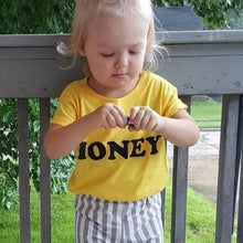 Load image into Gallery viewer, HONEY, Baby Tee, Toddler Tee, Honey Tees, Kid's Tees, Be Kind Tee, Kindness Tshirts, Be Kind Tshirt, Honey Tshirt, Honey Shirt