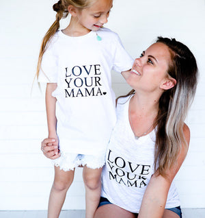2 Piece Set, LOVE YOUR MAMA Tank, Love Tanks, Love Your Mama Tshirt, Mama Tshirt
