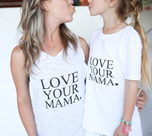 Load image into Gallery viewer, 2 Piece Set, LOVE YOUR MAMA Tank, Love Tanks, Love Your Mama Tshirt, Mama Tshirt