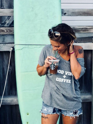 Good Vibes + Coffee - Off the Shoulder