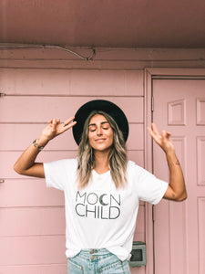 MOON CHILD Basic Boyfriend Tee, Moon Child T, Moon Child, Stay Wild Moon Child, Moon Child Shirt, Moon Child T, Moon Child T, Astrology Tee