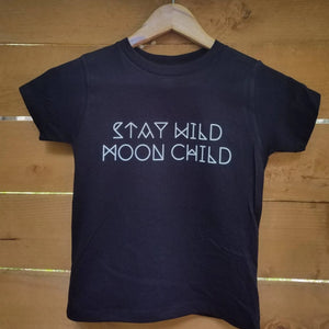 Load image into Gallery viewer, Stay Wild MOON CHILD, Child's Tee, Kid's Tee, Unisex Kid's Tee, Love Your Mama Shirt, Toddler Tee, Toddler Tshirt