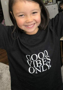 2 Piece SET, Good Vibes Only Black, Good Vibes only Tshirts, Good Vibes Only Shirts, Mama and Me Sets