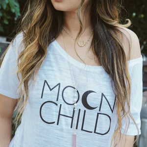 MOON CHILD Off Shoulder Tshirt, Moon Child Tee, Moon Child, Stay Wild Moon Child, Moon Child Shirt, Moon Child T, Moon Child T, Moon Child