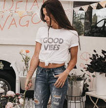 Load image into Gallery viewer, GOOD VIBES, Good Vibes tshirt, Good Vibes Tee, Good Vibes, Good Vibes Shirt, Good Vibes Top, Good Vibes Only