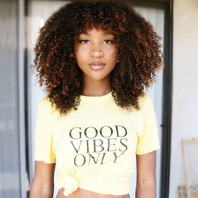 GOOD VIBES ONLY, Yellow Gold, Good Vibes Only Tee, Good Vibes Shirt, Good Vibes Top, Good Vibes Tshirt, Good Vibes Tees, Good Vibes Only