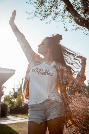 Load image into Gallery viewer, RAY OF SUNSHINE, Ray Of Sunshine Tshirts, Sunshine Vibes, Ray Of Sunshine Tee, Ray Of Sunshine Tshirt, Ray of Sunshine, Good Vibes Tshirt
