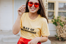 Load image into Gallery viewer, RAY OF SUNSHINE, Yellow Gold Tee, Sunshine Vibes, Ray Of Sunshine Tee, Ray Of Sunshine Tshirt, Ray of Sunshine, Good Vibes Tshirt