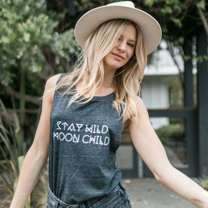 Stay Wild MOON CHILD, Moon Tshirts, Moon Tee, Moon Child Tee, Moon Child Tshirt, Moon Shirt, Cancerian Tee, Moon Tshirts, Astrology T