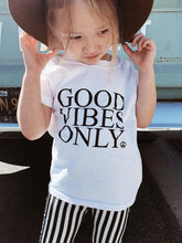 Load image into Gallery viewer, Kid's Tee, GOOD VIBES ONLY, Good Vibes Only Kids, Good Vibes Kids
