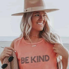 Load image into Gallery viewer, BE KIND Tee, Be Kind Tshirts, Be Kind tops, Kindness Tshirts, Be Kind Tshirts, Be Kind Tops, Retro Be Kind, Be Kind Tees, Kindness Tops