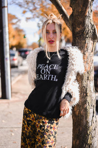 PEACE ON EARTH, Peace Sweatshirt, Super Soft Sweatshirt