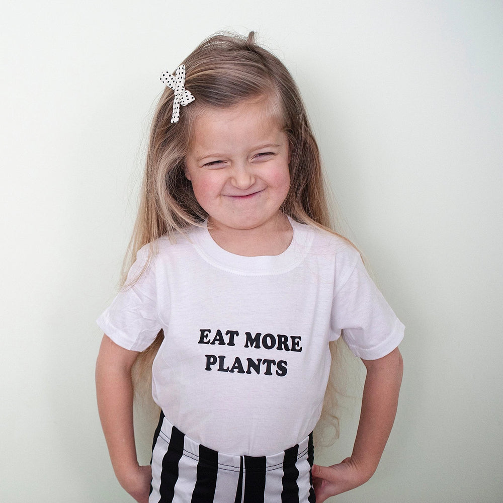 EAT MORE PLANTS Top, Plants Kids Shirt, PLant Unisex Tee, Vegan Boy or Girl Tee, Plant Based Kindness Tees