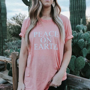 Load image into Gallery viewer, Peace on Earth - Boyfriend Tee
