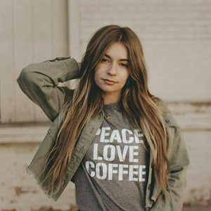 Load image into Gallery viewer, Peace Love Coffee - Muscle Tank