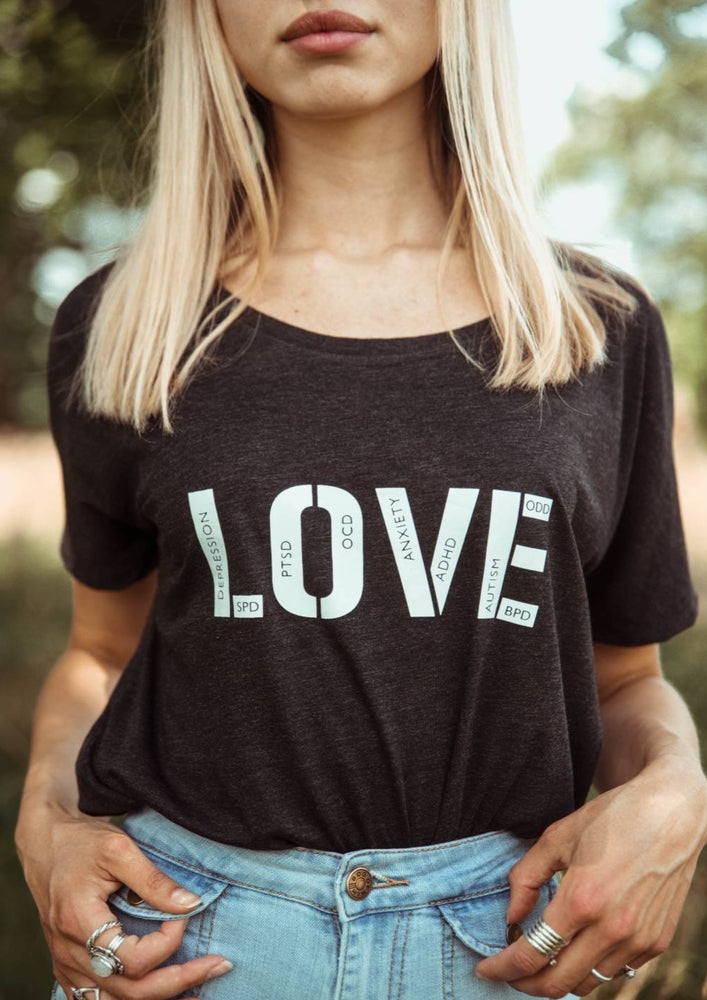 LOVE Tshirt, ADHD Tshirt, Autism Tshirt, Anxiety Tshirt, Love Tee, Mental Health Tshirt, Mental Health Tee, Mental Health Awareness Shirt