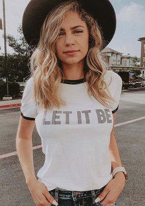 LET IT BE Tee, Ringer Tee, Beatles Tee, Let It Be Gifts, Let It Be Tshirt, The Beatles Tee, Beatles Tshirt, Let It Be Let It Be