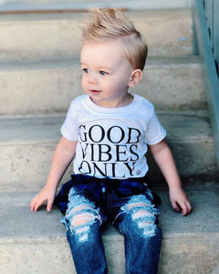 Kid's Tee, GOOD VIBES ONLY, Good Vibes Only Kids, Good Vibes Kids