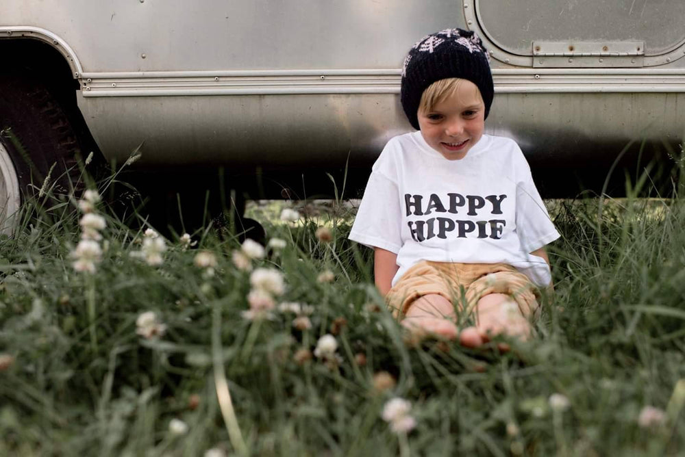 Load image into Gallery viewer, HAPPY HIPPIE Kid's Tee, Hippie Kid's Tshirt, Hippie Kids, Hippie Baby