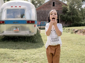 HAPPY CAMPER Kids Tee, Happy Camper Tshirts, Happy Camper Tees, Happy Camper Shirts