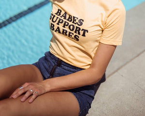 BABES Support Babes Tshirt, Yellow Babes Support Babes tee, Babes Tee, Boss Babes Tshirt, Babes Tee, Boho Clothing