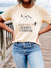 Load image into Gallery viewer, HAPPY CAMPER, Happy Camper Tshirt, Happy Camper Tank, Airstream Tshirt, Moon Tshirt, Happy Camper Shirt